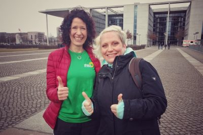 Bettina Jarasch Direktkandidatin für Spandau/Charlottenburg Nord, Constanze Rosengart KV Spandau